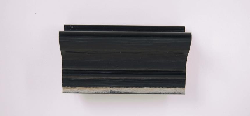 H4E20S Zilver - zwart handgegrondeerd